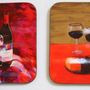 Wine, Wood Coasters, Wine Lovers, Wooden Coasters, Drink Coasters, House Warming Gift, Wine Bottle, Red Wine, White Wine