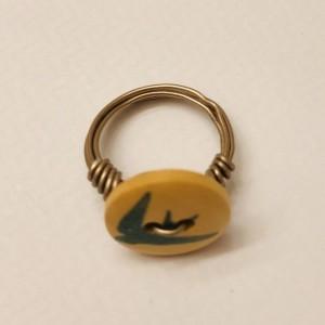 Sparrow Button Ring
