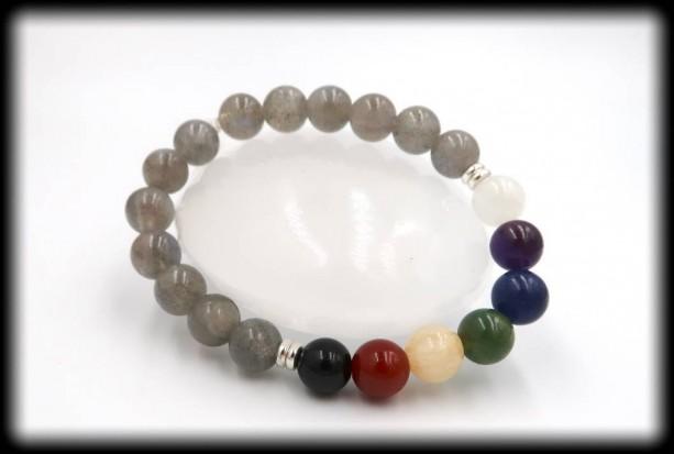Labradorite Chakra Healing Bracelet for Power of Truth