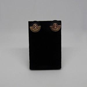 Black Button Earrings