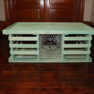 """Handmade Wooden Lobster Trap Coffee Table, """"Sea Mist"""" series...Free Shipping!"""
