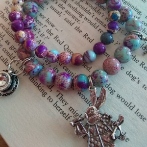 Alice in Wonderland bracelet set - abridged - 3 charms