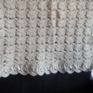 Hand crocheted baby blanket / afgan /throw