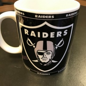Custom Made Oakland Raiders BLACK 11oz Coffee Mug