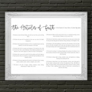 Articles of Faith Poster - 18x24