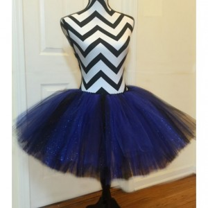 Black & Blue Sparkle Tutu - Adult & Women's Sized