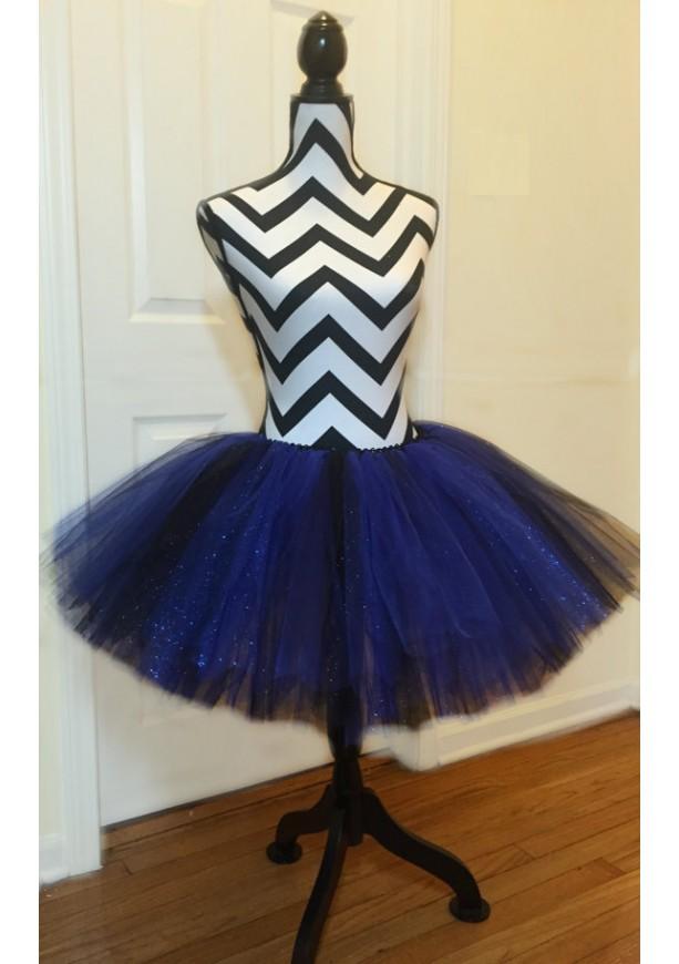 Black & Blue Sparkle Tutu - Children & Pre-Teen Sized