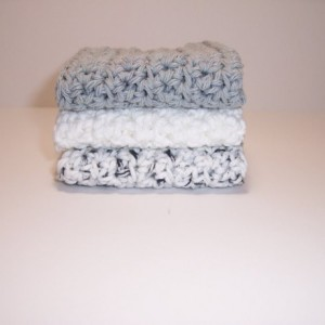 Set of 3 Handmade Crochet Cotton Dish,Wash,Bath Cloths,Dish Rags,Gifts,Housewarming,Ready To Ship