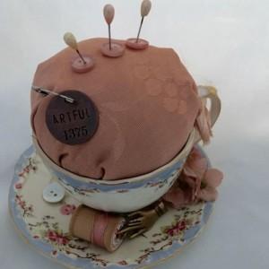 Grandmas Tea Cup Vintage Tea Cup Pin Cushion