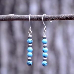 Silver Magnesite Earrings