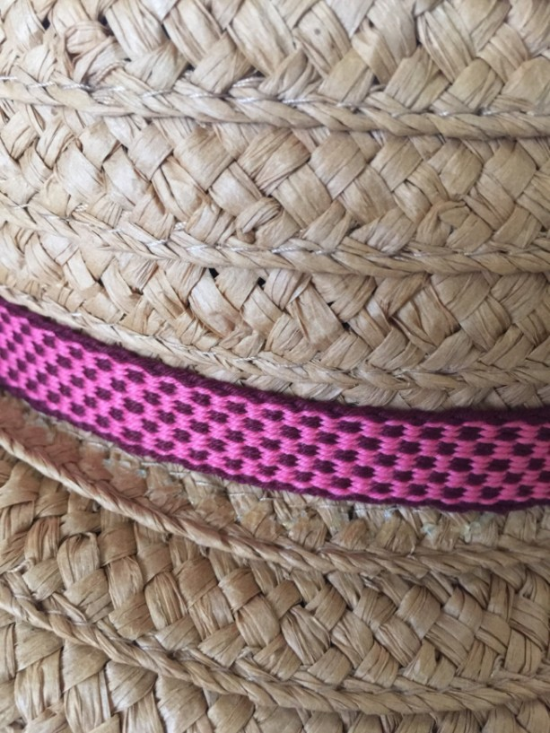 Inkle Loom woven belt, strap, or decorative trim. 100% Cotton. Item # 42-215