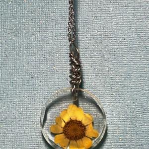 Yellow Flower Pendant Necklace
