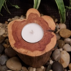 All Natural Handcrafted Wood Candle Holders