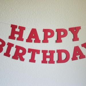 Red Birthday Banner