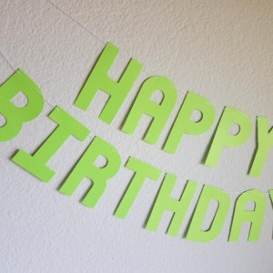 Green Birthday Banner