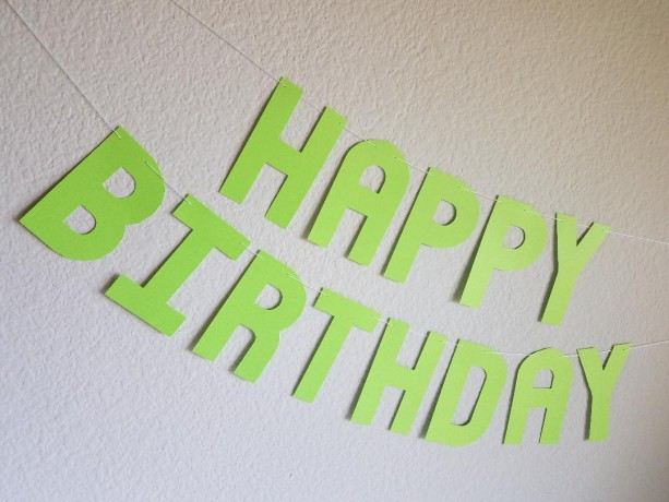 Green Birthday Banner