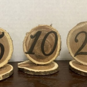 Rustic Wood Table Numbers 1-20