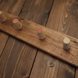 Rustic Cork Hook Coat Rack / Key Holder / Wine Cork Coat Rack / Towel Rack / Kitchen Hanger / Rustic Hanger / Rustic Wall Mounted Hanger
