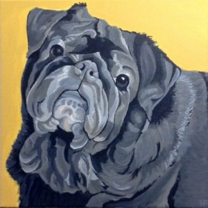 "Percy - Custom Dog Portrait 24""x 24"""
