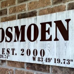 GPS Coordinates Gift   Coordinates Sign   Latitude Longitude Sign   Custom Coordinates   Personalized Wood Signs    Wood Family Name Sign