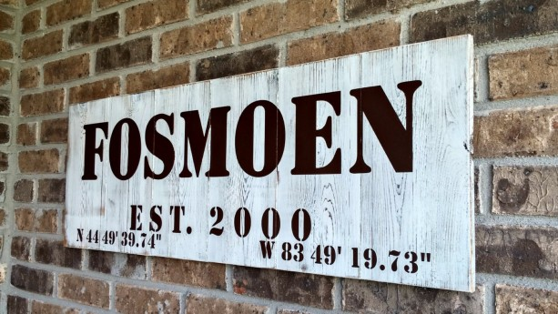 Gps Coordinates Gift Personalized Wood Signs Aftcra