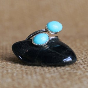 Sterling Silver and Turquoise Adjustable Ring