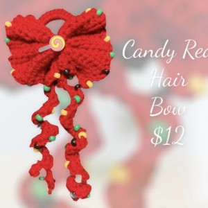 Candy Red hair Bow