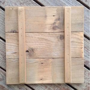 Hand Stenciled Checkerboard, On Vintage Cedar Pickets