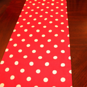 TABLE RUNNER - Premier Prints Polka Dot Lipstick/White - Wedding/ Birthday Parties/Showers/Holidays