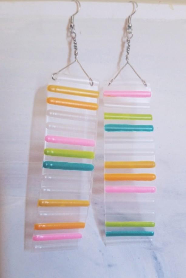 Color Strip Earrings