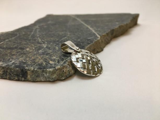 Silver Domed Lattice Pendant