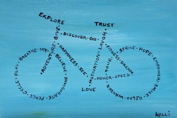 """""""Explore, Trust, Love"""" original painting"""