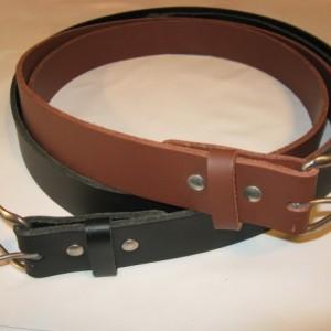 """1.5"""" Wide Heavy Duty Leather Work Belt Gun Belt Handmade"""