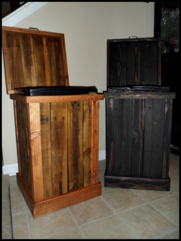 30 gallon wood kitchen trash can aftcra - Wooden kitchen trash can with lid ...