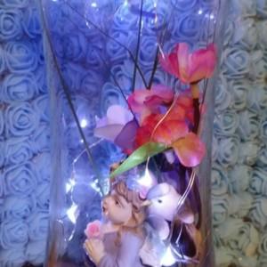 Angel Hour Glass Globe