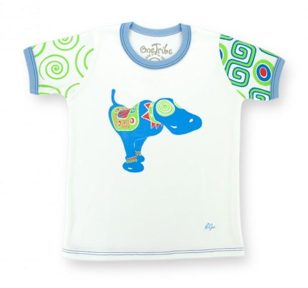Blue Dog Monicaco Children's T-shirt