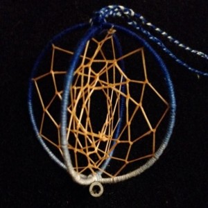 Globe Dream Catcher in Ombre Blue