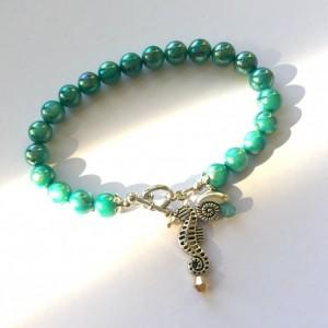 Aqua Shell Beach Bracelet