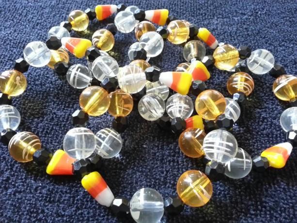 Halloween Candy Corn stretch bracelets