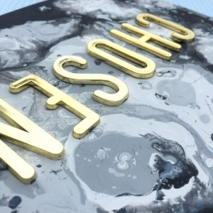 Acrylic Painting w/ 3D letters