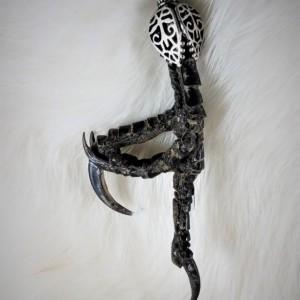 ONE OF A KIND! // Statement piece // Bird Flipping the Bird necklace / gothic / punk / halloween