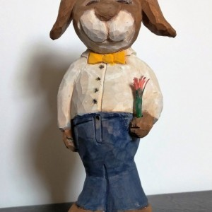 Hand Carved Bunny Rabbit