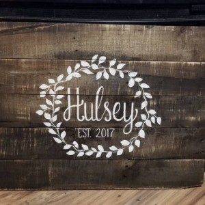 Family name established sign, custom personalized sign, wedding reception decor, wedding gift, family last name wood sign, pallet name sign