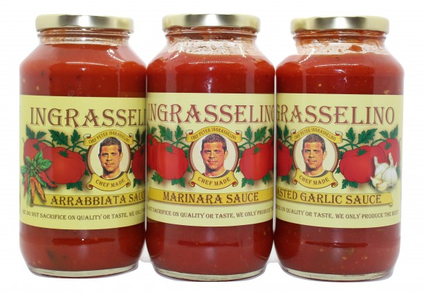 Roasted Garlic, Marinara, & Arrabbiata sauces combo pack, by INGRASSELINO PRODUCTS