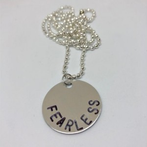 FEARLESS Metal Stamped Necklace