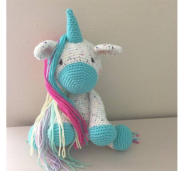 Sprinkles the Unicorn Plush Toy/Unicorn Doll/Unicorn Toy/Crochet Unicorn/Photography Prop/Stuffed Toy/ Soft Toy/Amigurumi Toy- MADE TO ORDER