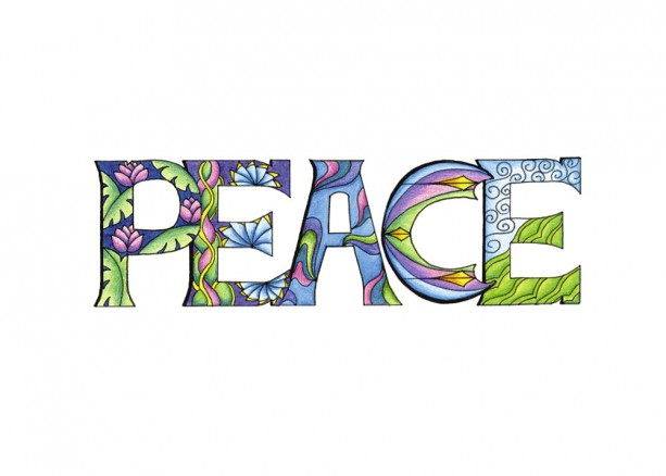 """Peace"" Fine Art Print, Inspirational Illustrated Word ..."