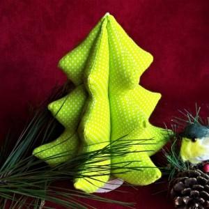 Fabric Christmas tree, Modern Tree, Lime green tree, soft sculpture christmas tree, Christmas decor, Gift