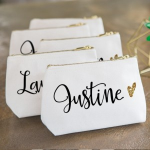 Personalized Makeup Bag Wedding Bridal Party Gift Bag CMG350