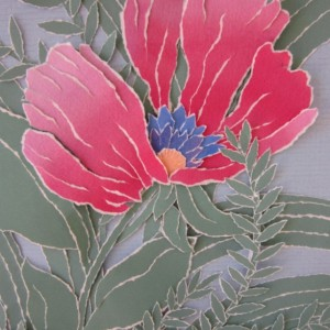 Torn Paper - Plum Poppy, 9 X 12